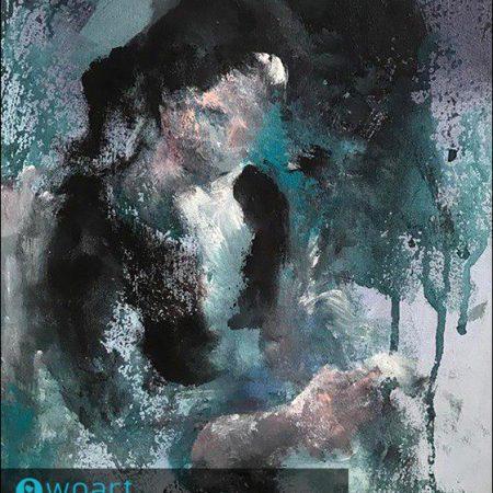 نام هنرمند: ارکیده هدف جو | عنوان اثر: زن ایرانی | تکنیک: آکریلیک | ابعاد: 25در35سانتیمتر