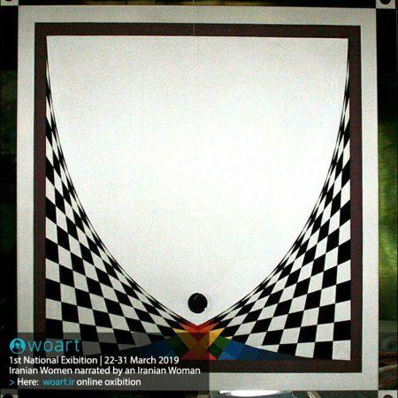 نام هنرمند: راحیل رادمنش | عنوان اثر: زهدان | تکنیک: میکس مدیا | ابعاد: ۱۰۰در۱۰۰ سانتیمتر