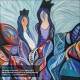 نام هنرمند: کاترین روحانی | عنوان اثر: زن اثیری۲ | تکنیک: اکریلیک روی بوم | ابعاد: ۵۰در۵۰ سانتیمتر