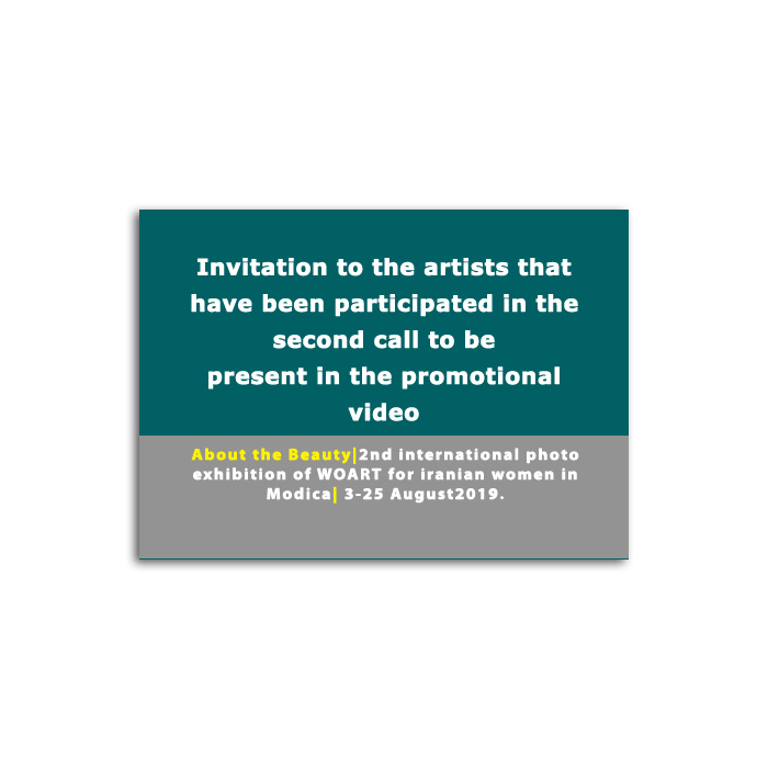Invitation to artists were accepted in the second call To attending promotional video