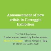 Announcement of new artists in Correggio Exhibition