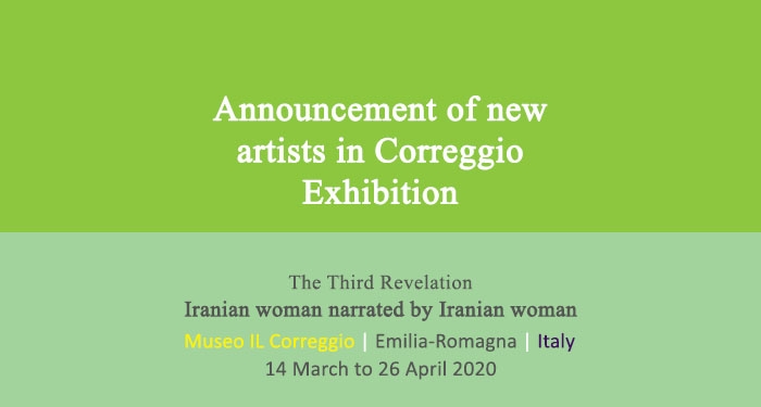 Announcement of new artists in Correggio Exhibition