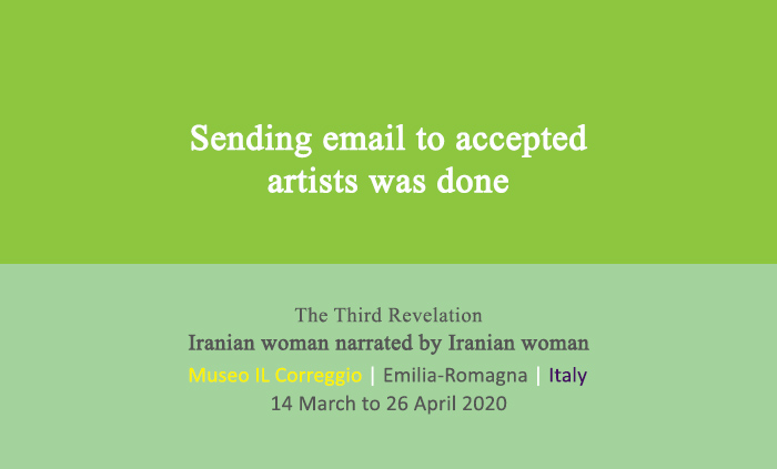 After judging the works submitted for exhibition, the highest rated artists were emailed.